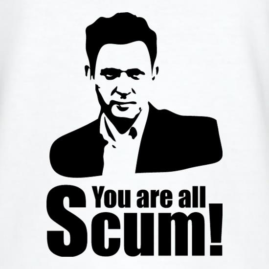 Jeremy Kyle - You Are All Scum! t shirt