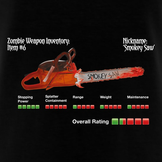 Zombie Smokey Saw t shirt